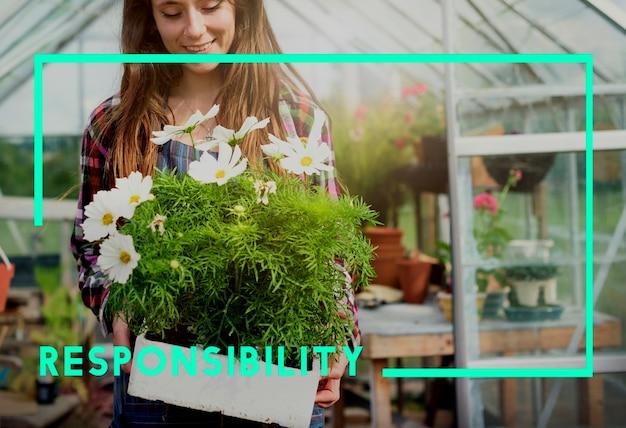 Go green responsibility nachhaltiges konzept