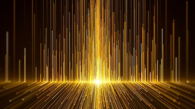Gold awards hintergrund isoliert auf schwarz