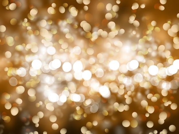 Gold christmas hintergrund mit funkelt und sterne