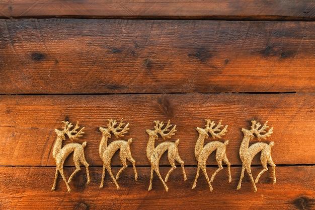 Gold dekorative hirsche