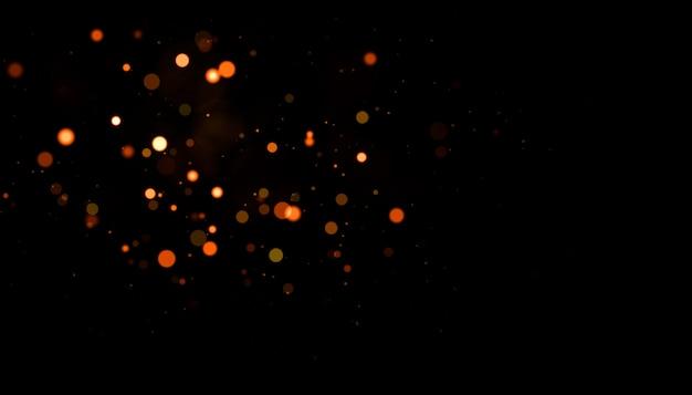Gold echte staubpartikel mit hintergrundbeleuchtung und echtem linseneffekt