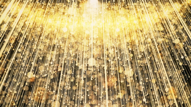 Gold glitter lights feiern und verleihen partyszene. Premium Fotos