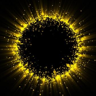 Gold glitzernder staubspurhintergrund