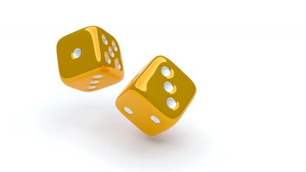 Gold-ludo-würfel