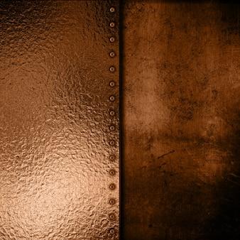 Gold metallplatte auf grunge-hintergrund