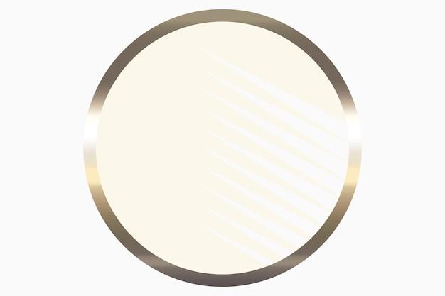 Gold runde abstrakte logo-hintergrundillustration auf pastellfarbenem hintergrund