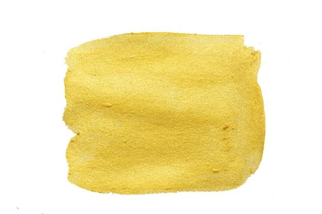Gold textur. hand gezeichneter pinselstrich.