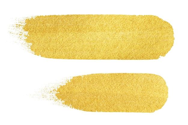 Gold textur. handgezeichneter pinselstrich.