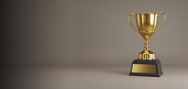 Gold trophy award mit platz für kopien.