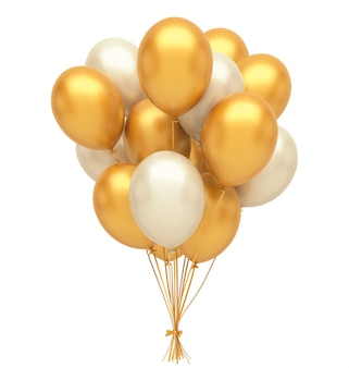 Gold- und silberballons Premium Fotos