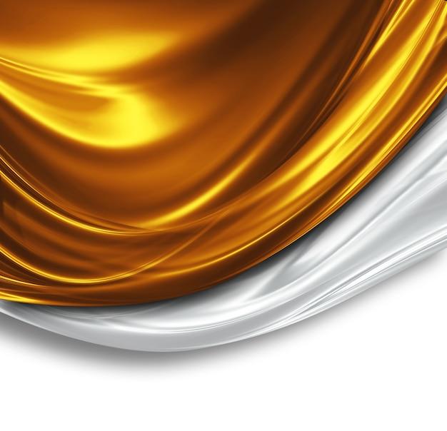 Gold- und silberseidendesign schöner moderner hintergrund
