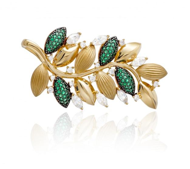 Goldanhänger mit grünen steinen