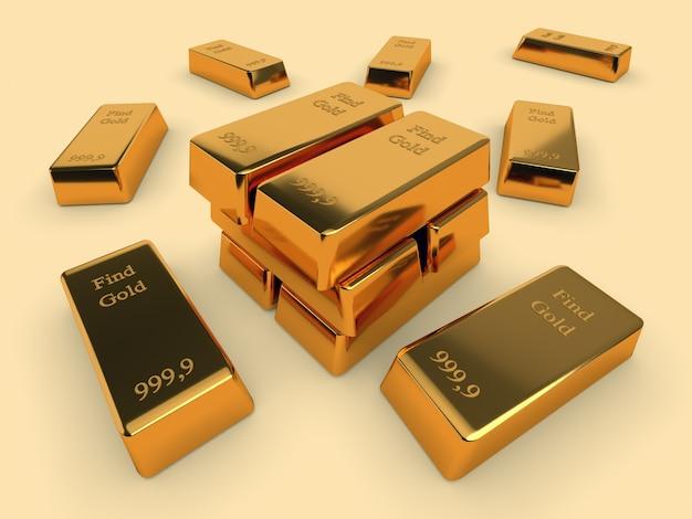 Goldbankbarren. geschäfts- und finanzkonzept