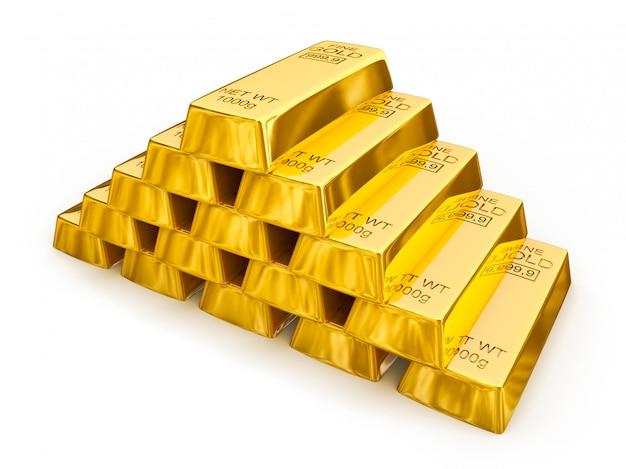 Goldbarren pyramide