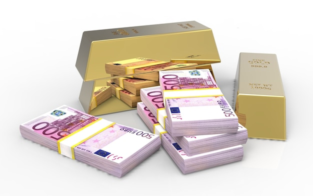 Goldbarren und euro