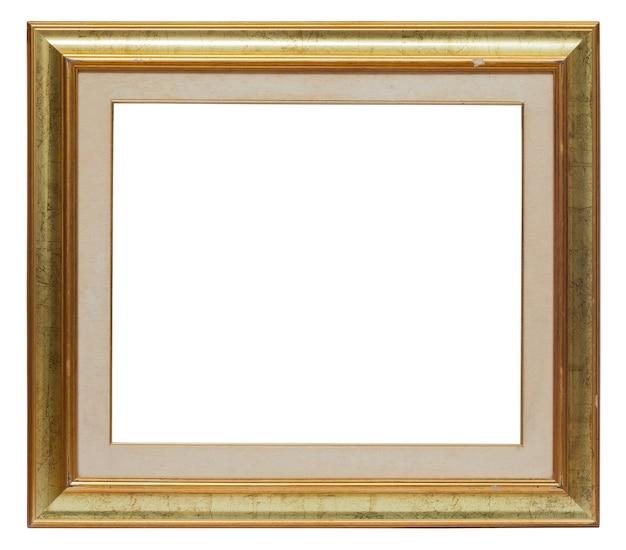 Goldbilderrahmen lokalisiert auf einem weißen hintergrund