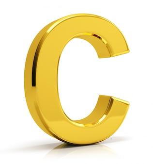Goldbuchstabe c