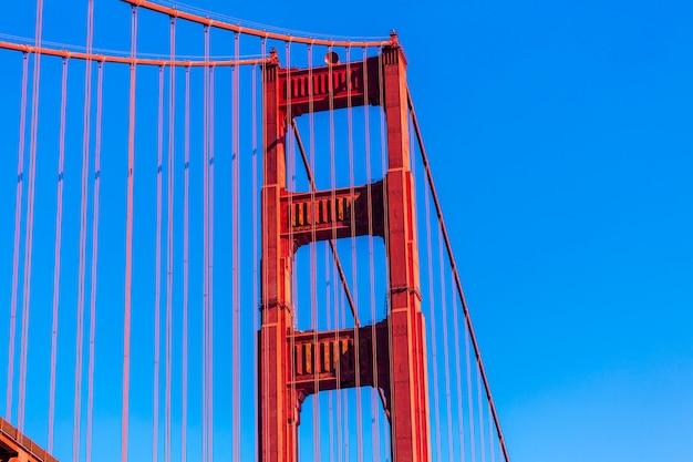 Golden gate bridge-details in san francisco kalifornien