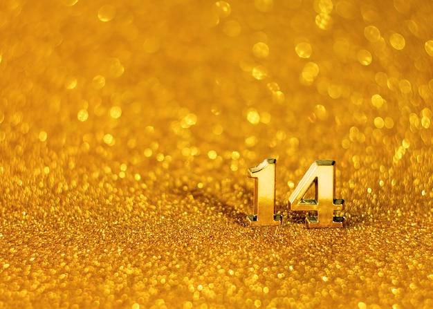 Golden nicht scharf mit bokeh zum valentinstag.
