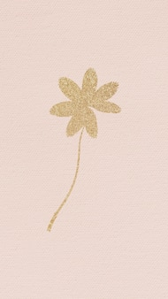 Golden schimmerndes blatt auf einem rosa
