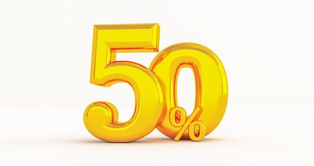 Goldene 50% rabatt