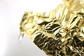 Goldene alufolie