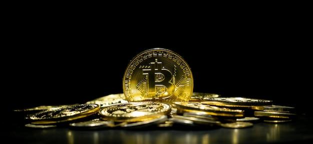 Goldene bitcoin-kryptowährung