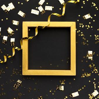 Goldene dekorationen für die party