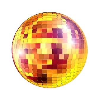 Goldene discospiegelkugel