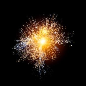 Goldene explosion hintergrund