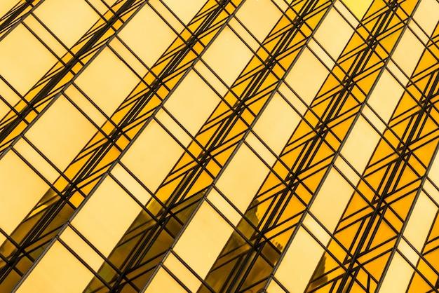 Goldene finanzarchitektur von angesicht zu angesicht