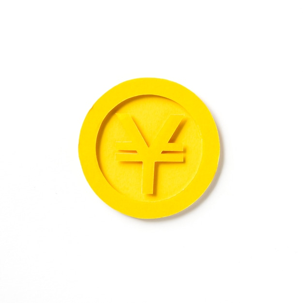 Goldene japanische yen-münzengraphik
