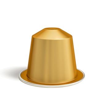 Goldene kaffeekapsel