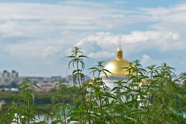 Goldene kuppel der orthodoxen kirche