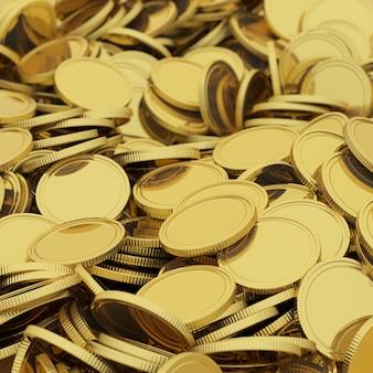 Goldene münzen hintergrund