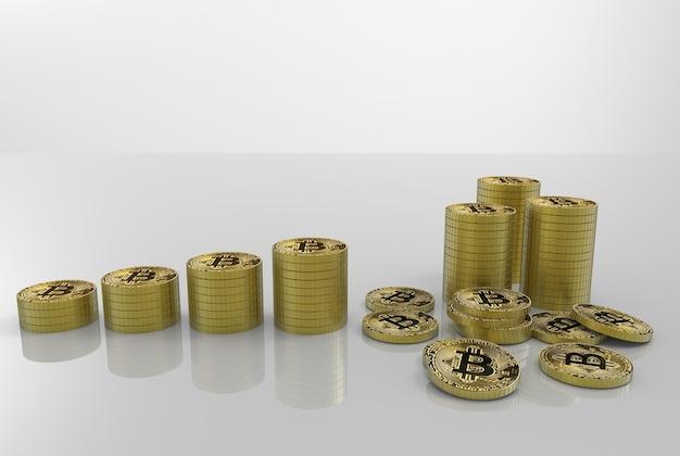 Goldene sparende cryptocurrency bitcoin stacks