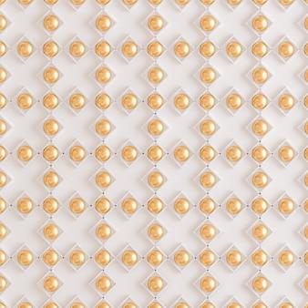 Goldene texturwand. 3d-rendering.