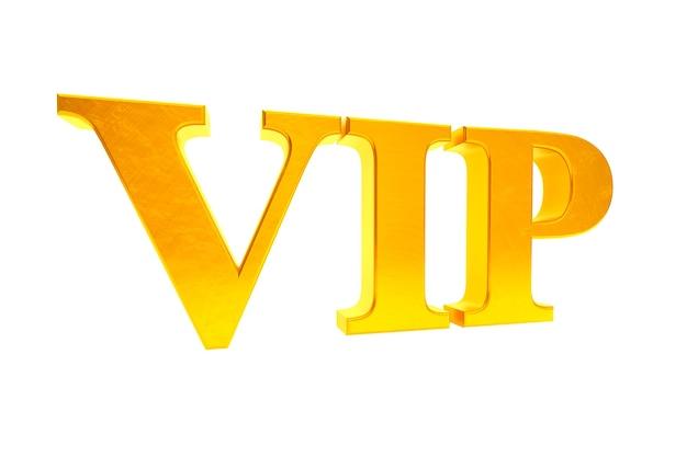 Goldene vip-abkürzung auf weißem hintergrund