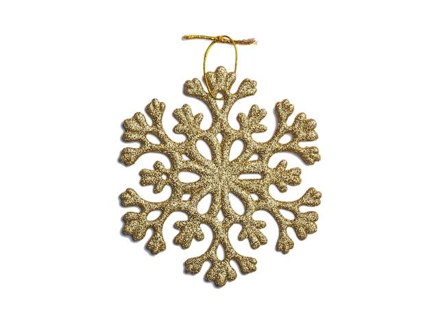 Goldene weihnachtsschneeflocke lokalisiert
