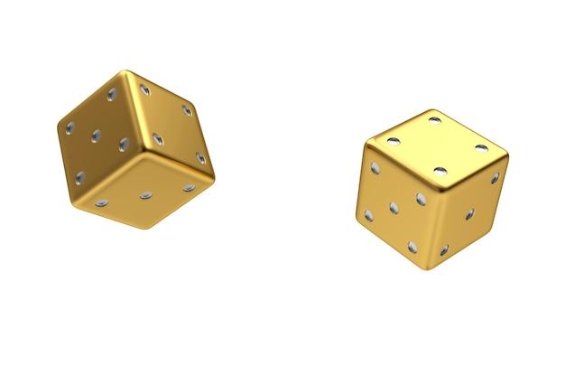 Goldene würfelwürfel
