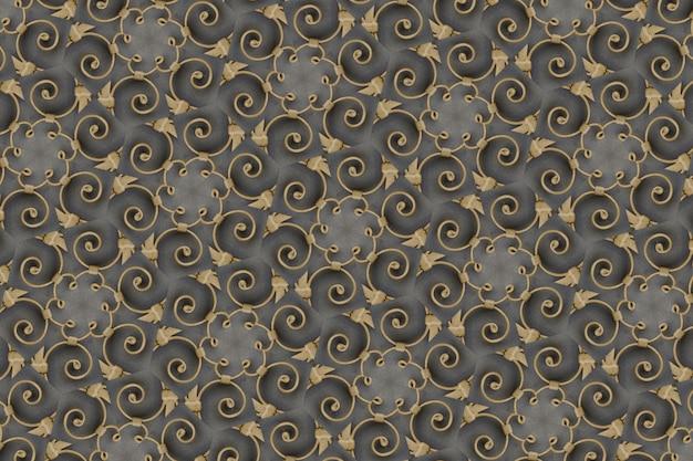 Goldener abstrakter hintergrund gemasert, linien und formen