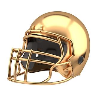 Goldener american football helm