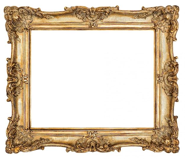 Goldener bilderrahmen im barockstil