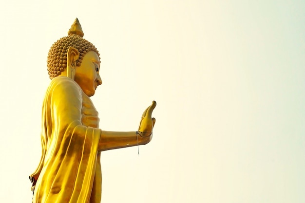 Goldener buddha in wat that thong temple, thailand