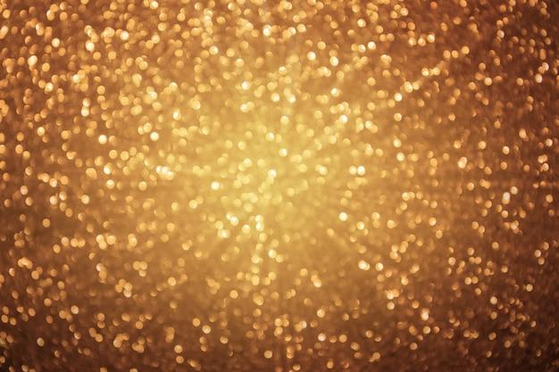 Goldener glanz, bokeh-lichter