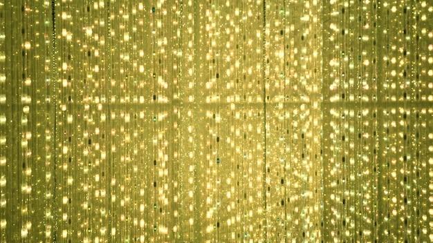 Goldener hintergrund des led-blinkens