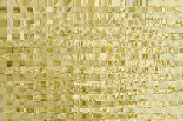 Goldener mosaikmusterhintergrund. futuristische fliese des glanzes