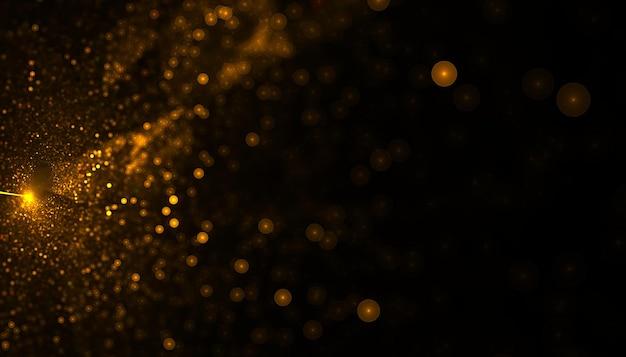 Goldener partikelstaub, der hintergrund platzt