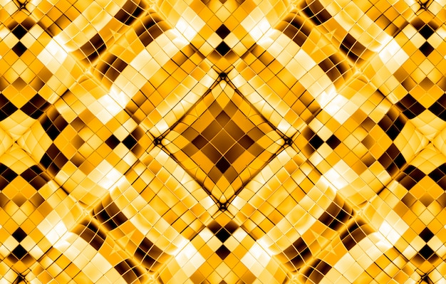 Goldener quadratischer gitterform-musterluxushintergrund