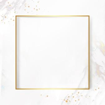 Goldener rahmen auf marmorhintergrund